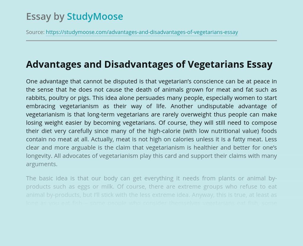 Advantages and Disadvantages of Vegetarians