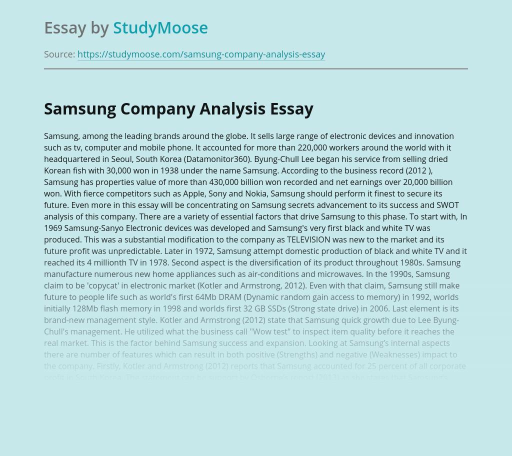 Samsung Company Analysis
