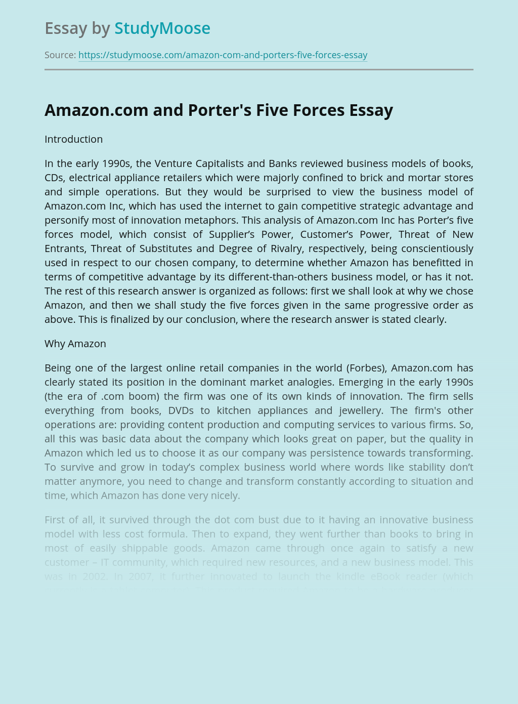 Business Marketing of Amazon.com