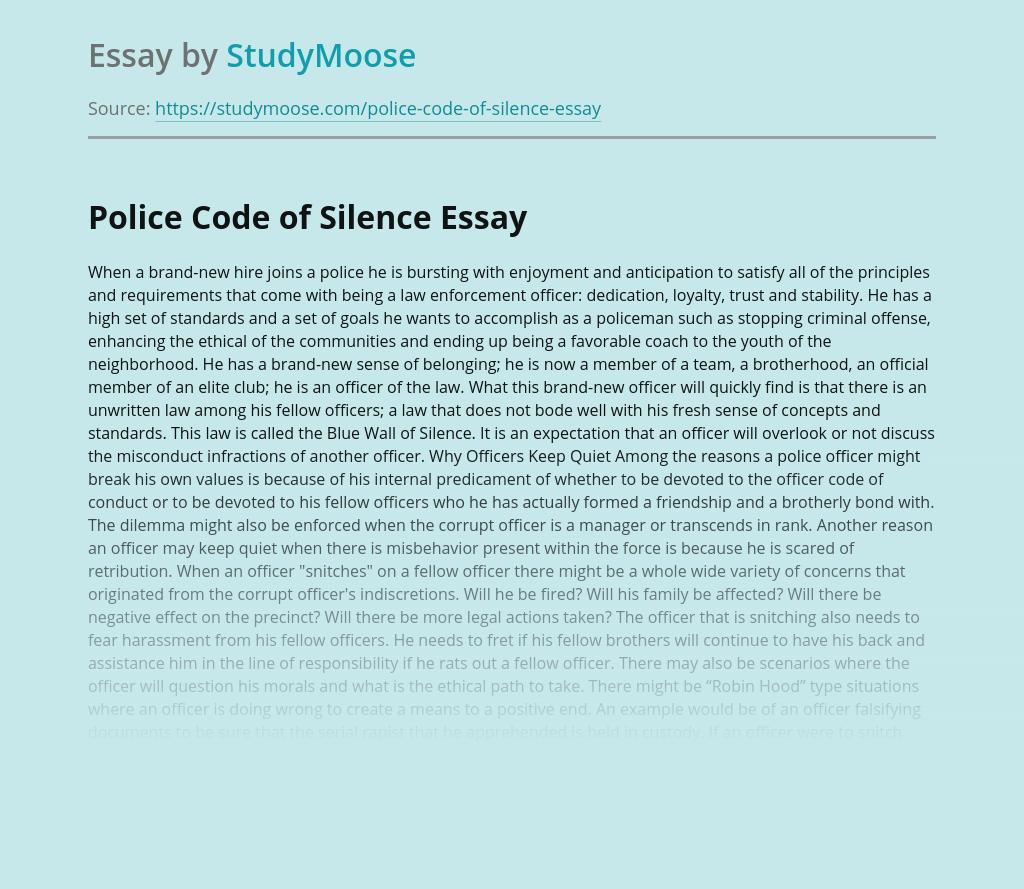 Police Code of Silence