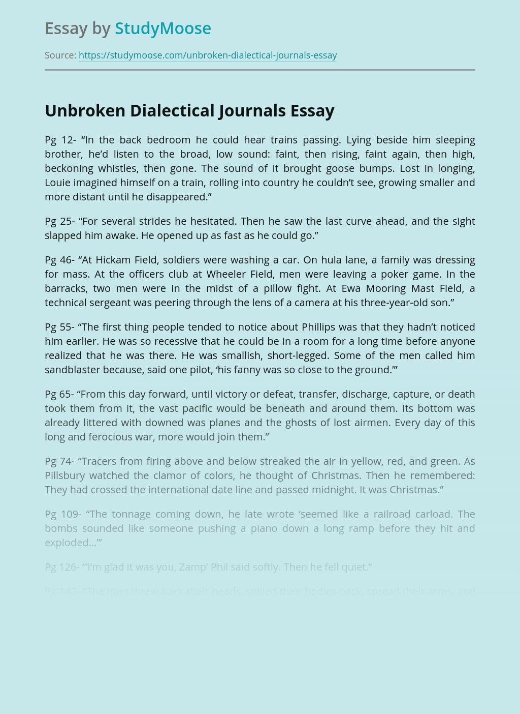 Unbroken Dialectical Journals