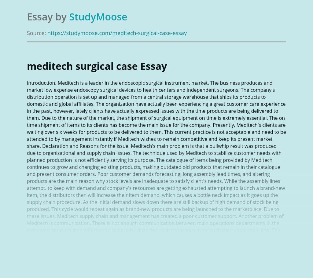 Meditech Surgical Case