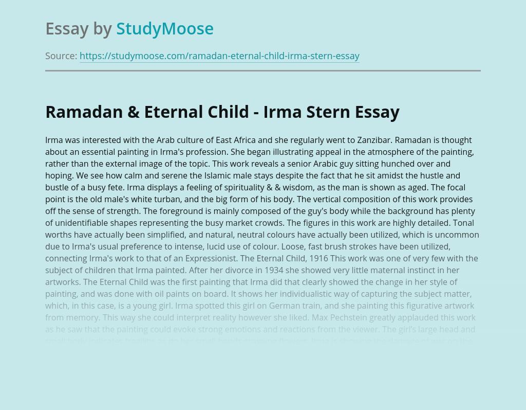Ramadan & Eternal Child - Irma Stern