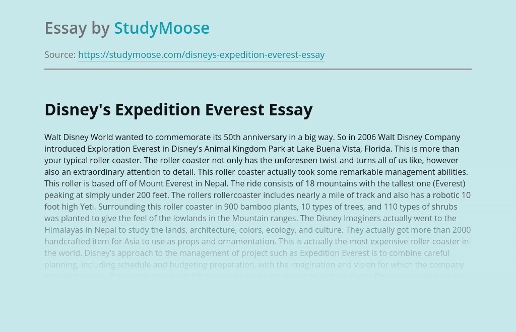 Disney's Expedition Everest