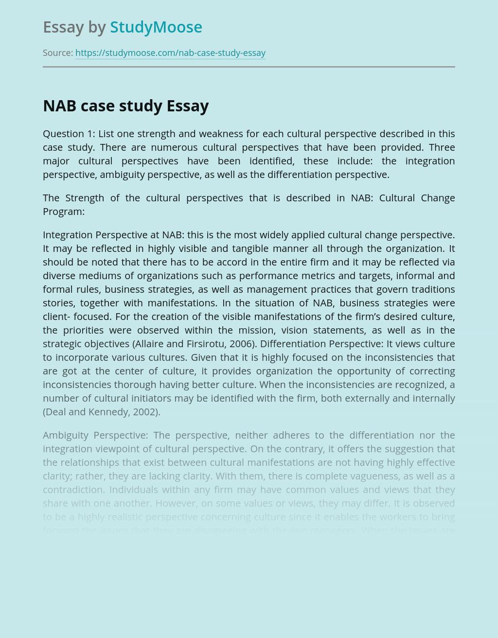 NAB case study