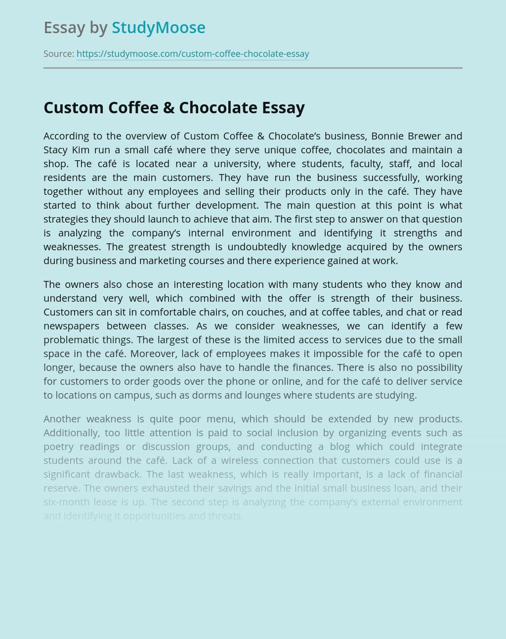 Custom Coffee & Chocolate