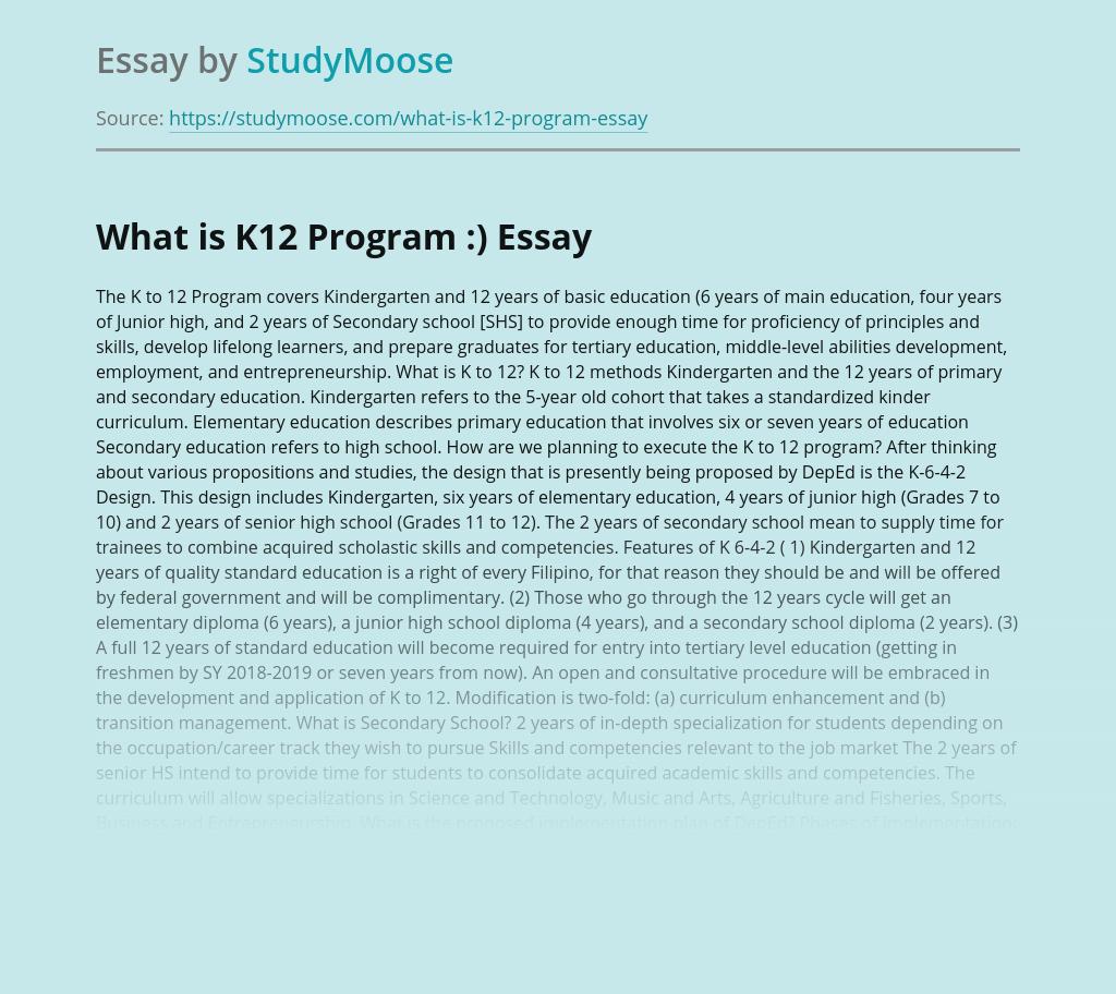 Education Reform by K12 Program