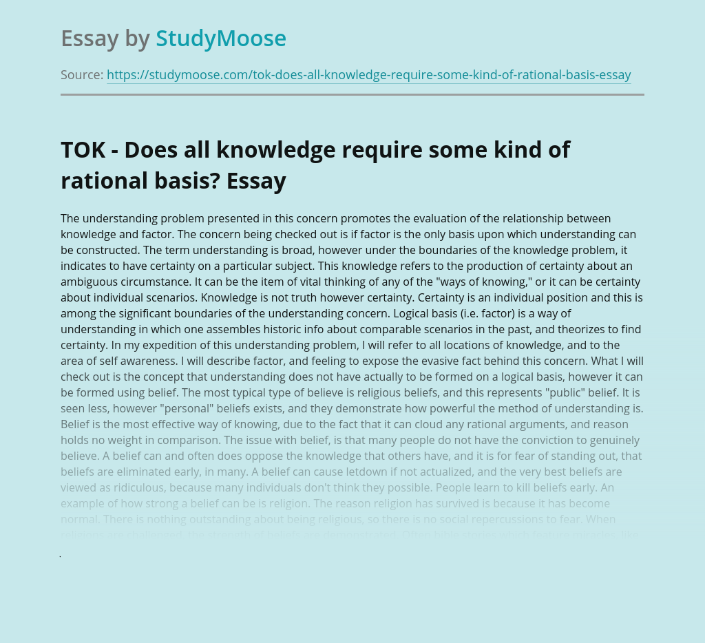 Does All Knowledge Require Some Kind of Rational Basis?
