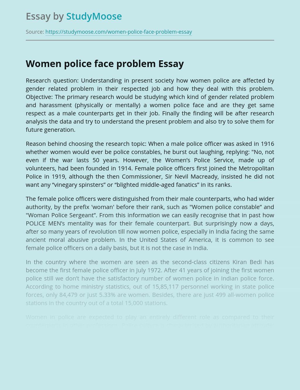 Women police face problem