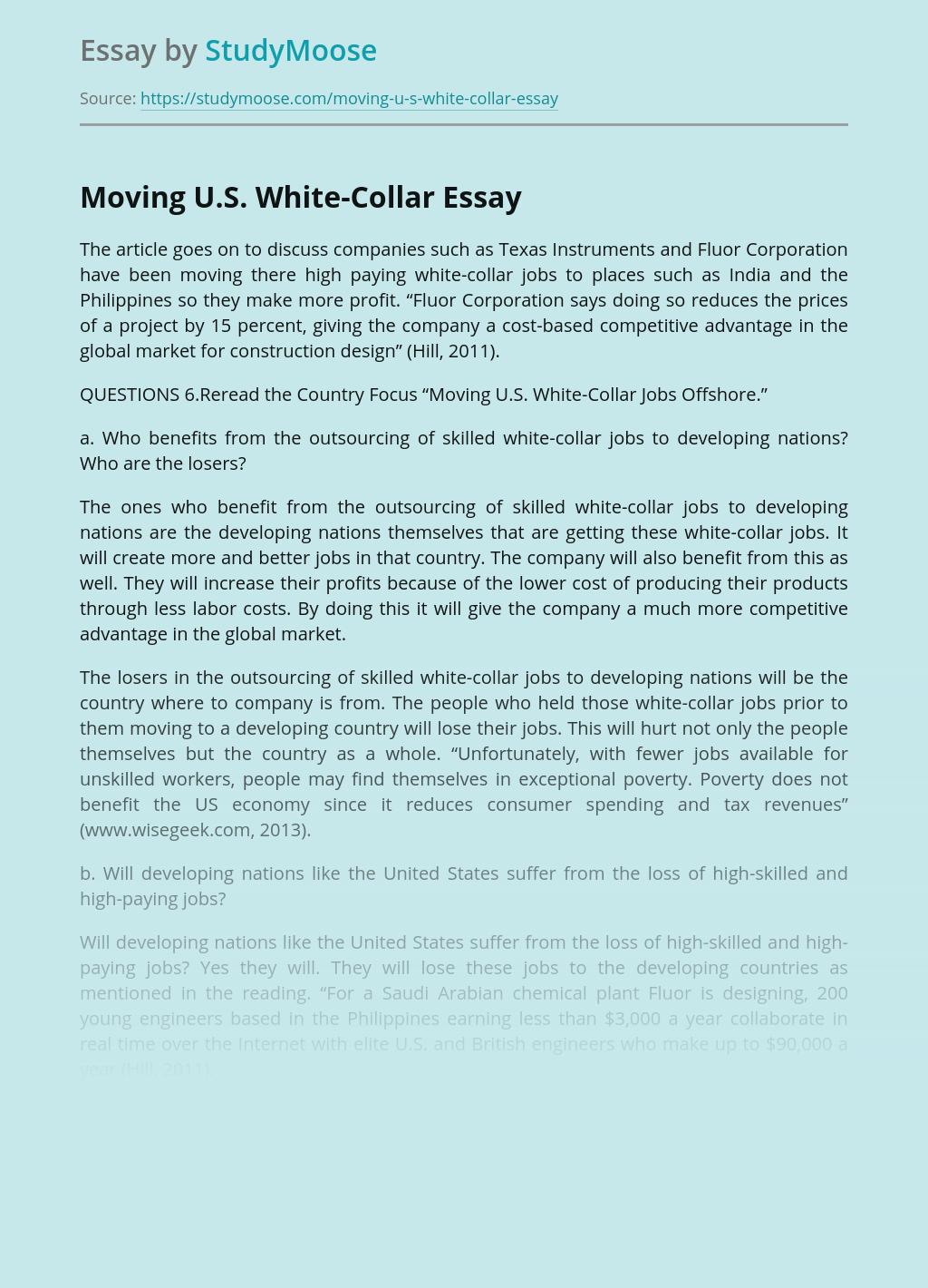 Moving U.S. White-Collar