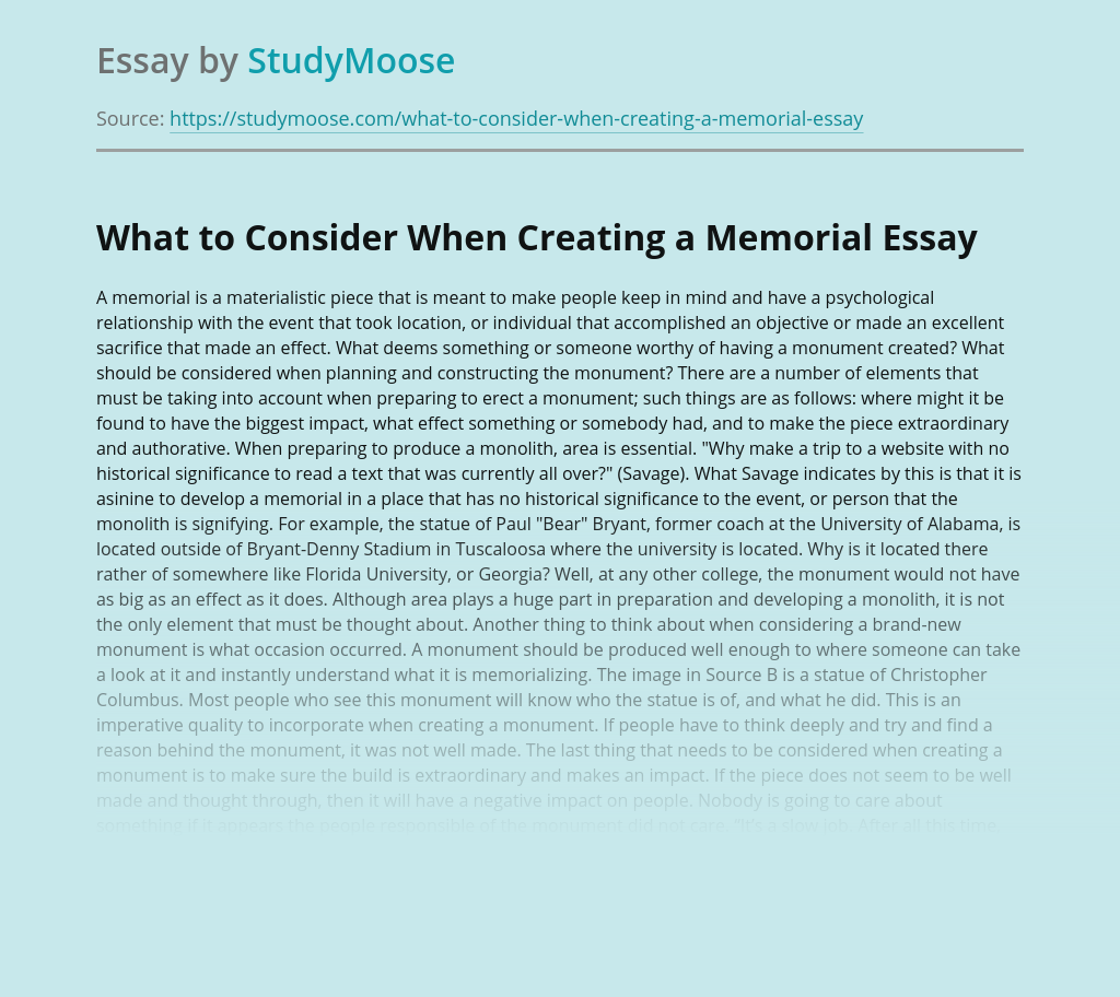 What to Consider When Creating a Memorial?