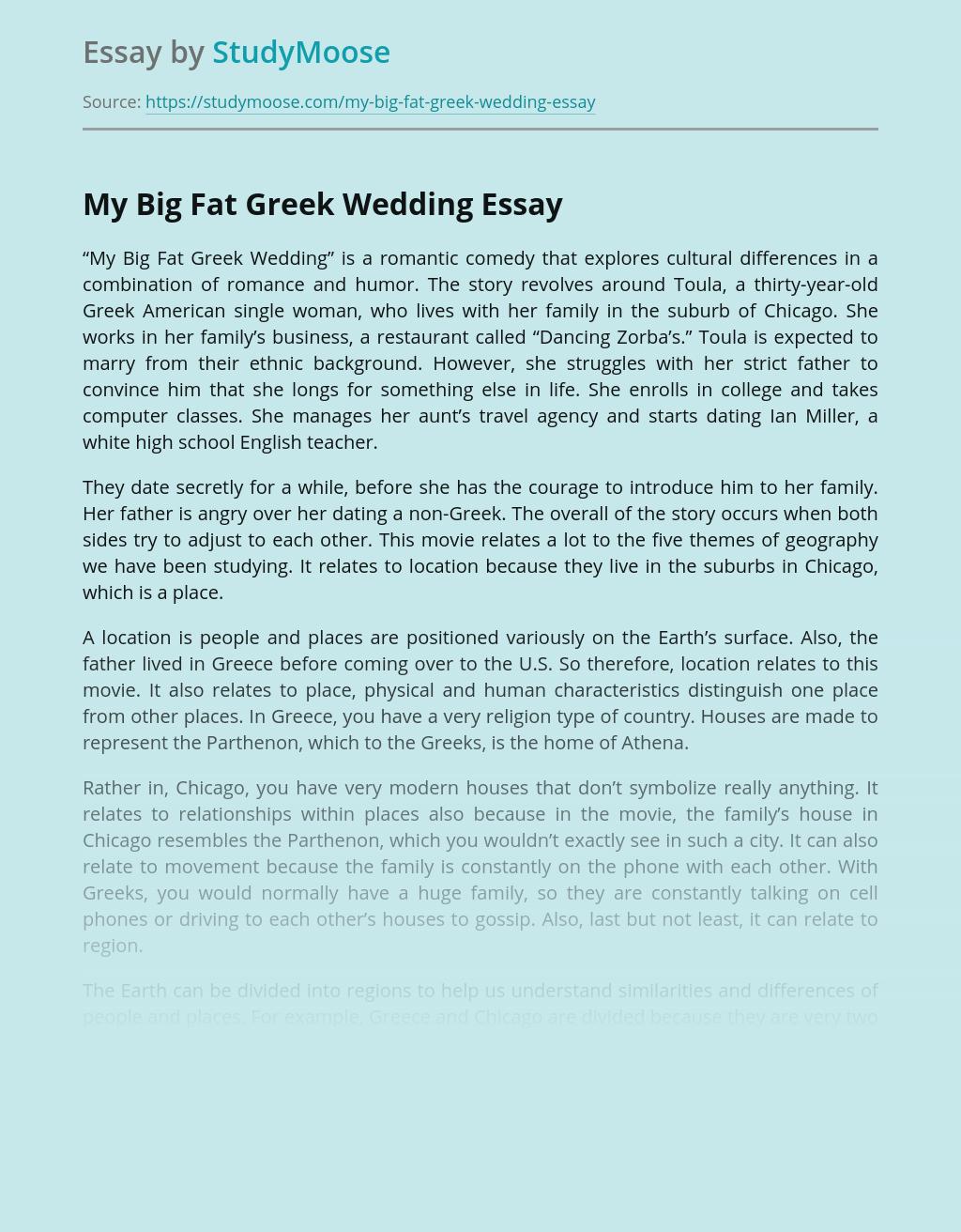 Family Comedy My Big Fat Greek Wedding