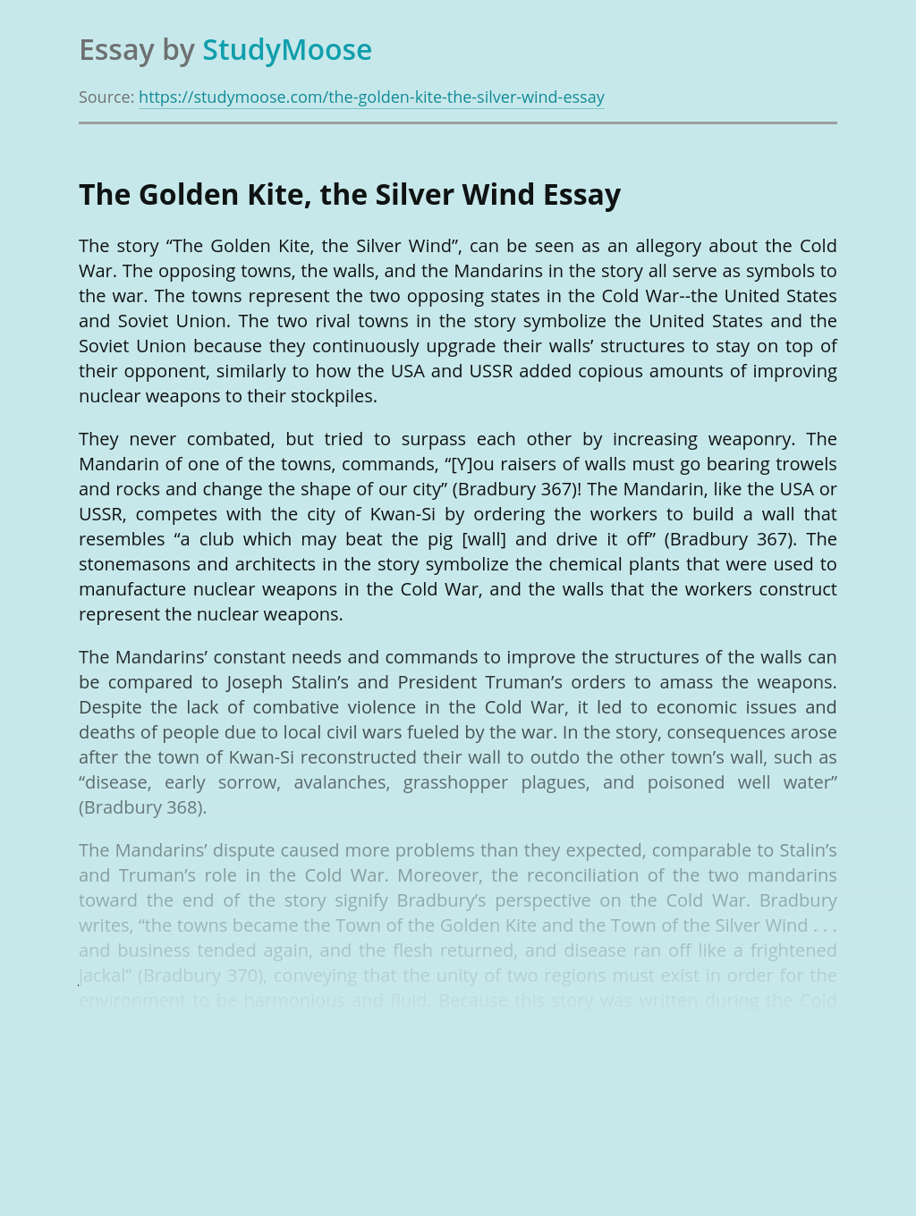 The Golden Kite, the Silver Wind Book Review
