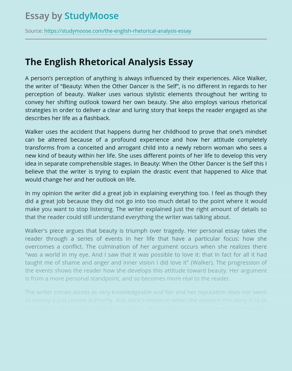 The English Rhetorical Analysis