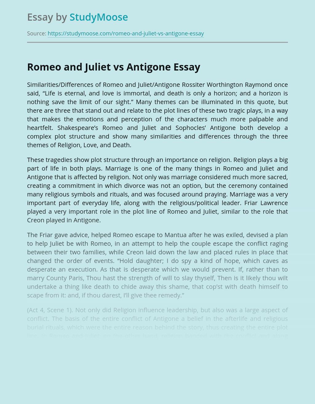 Romeo and Juliet vs Antigone