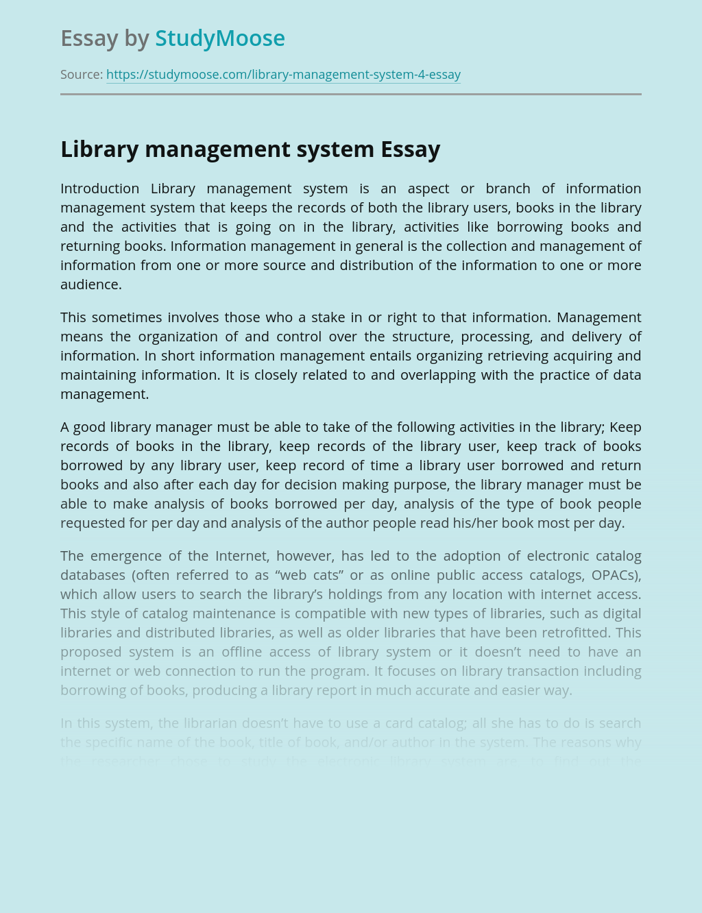 An Integrated Library System