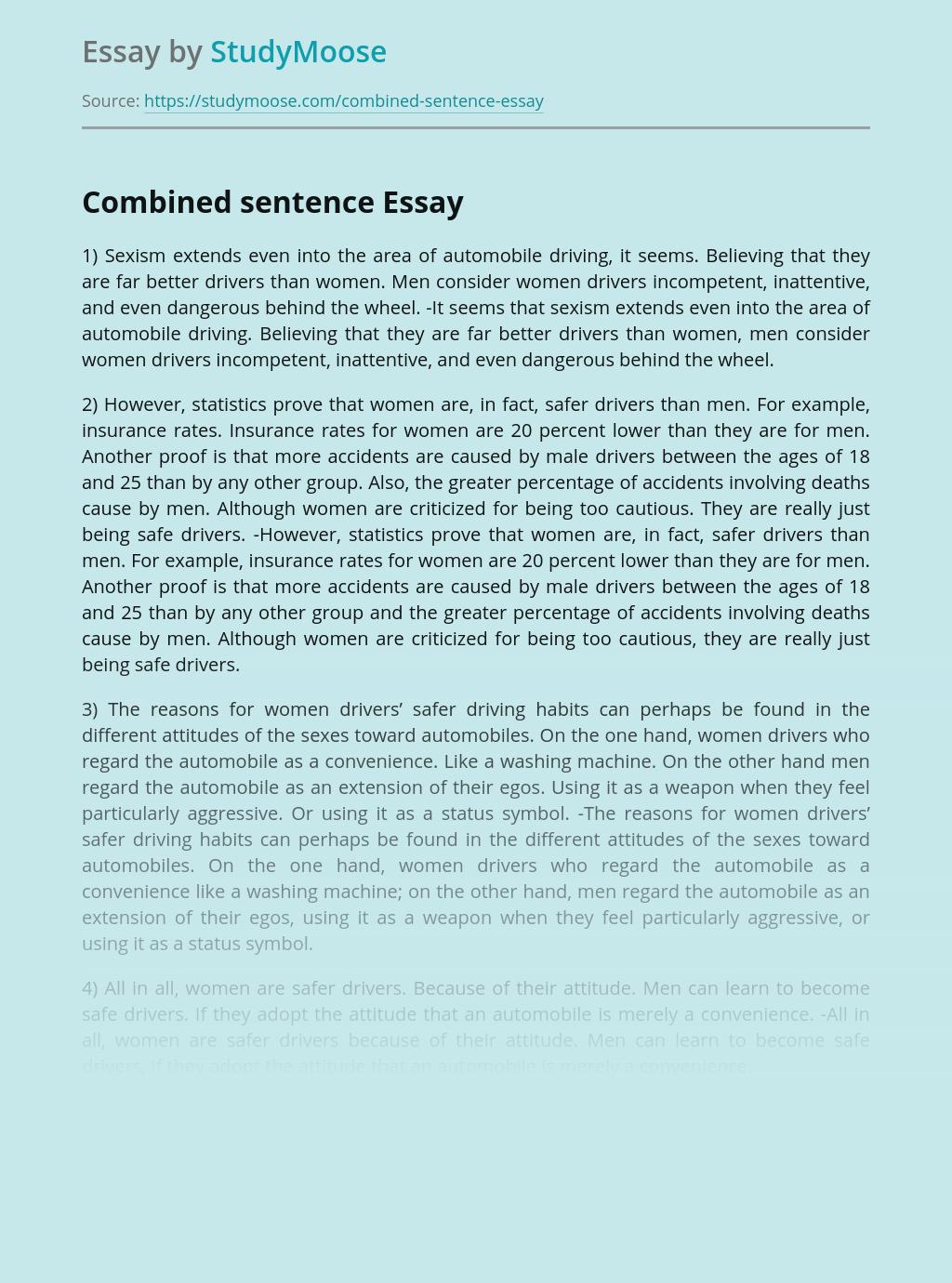 Combined sentence