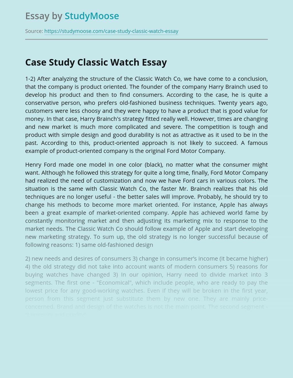 Case Study Classic Watch
