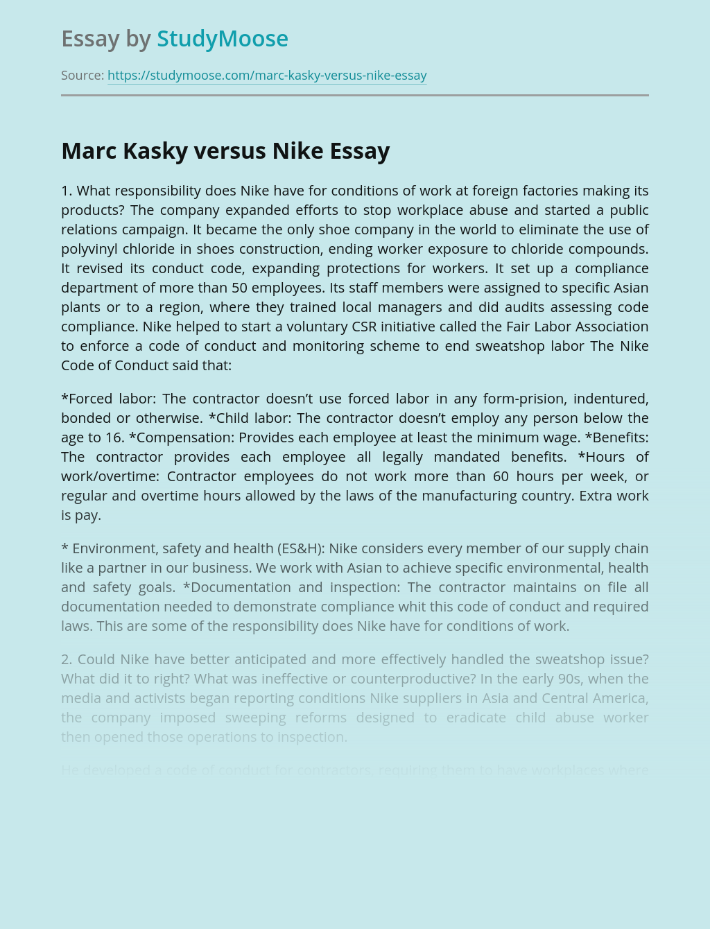Brands Marc Kasky vs Nike