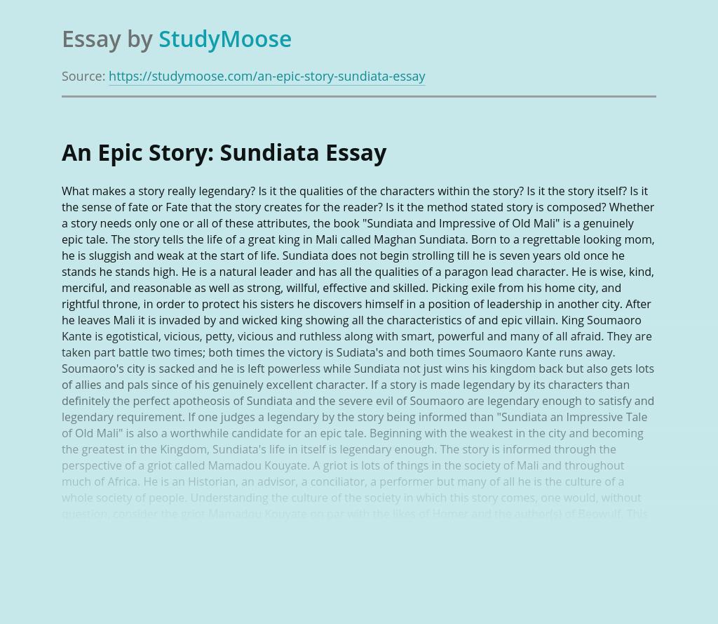 free essays sundiata