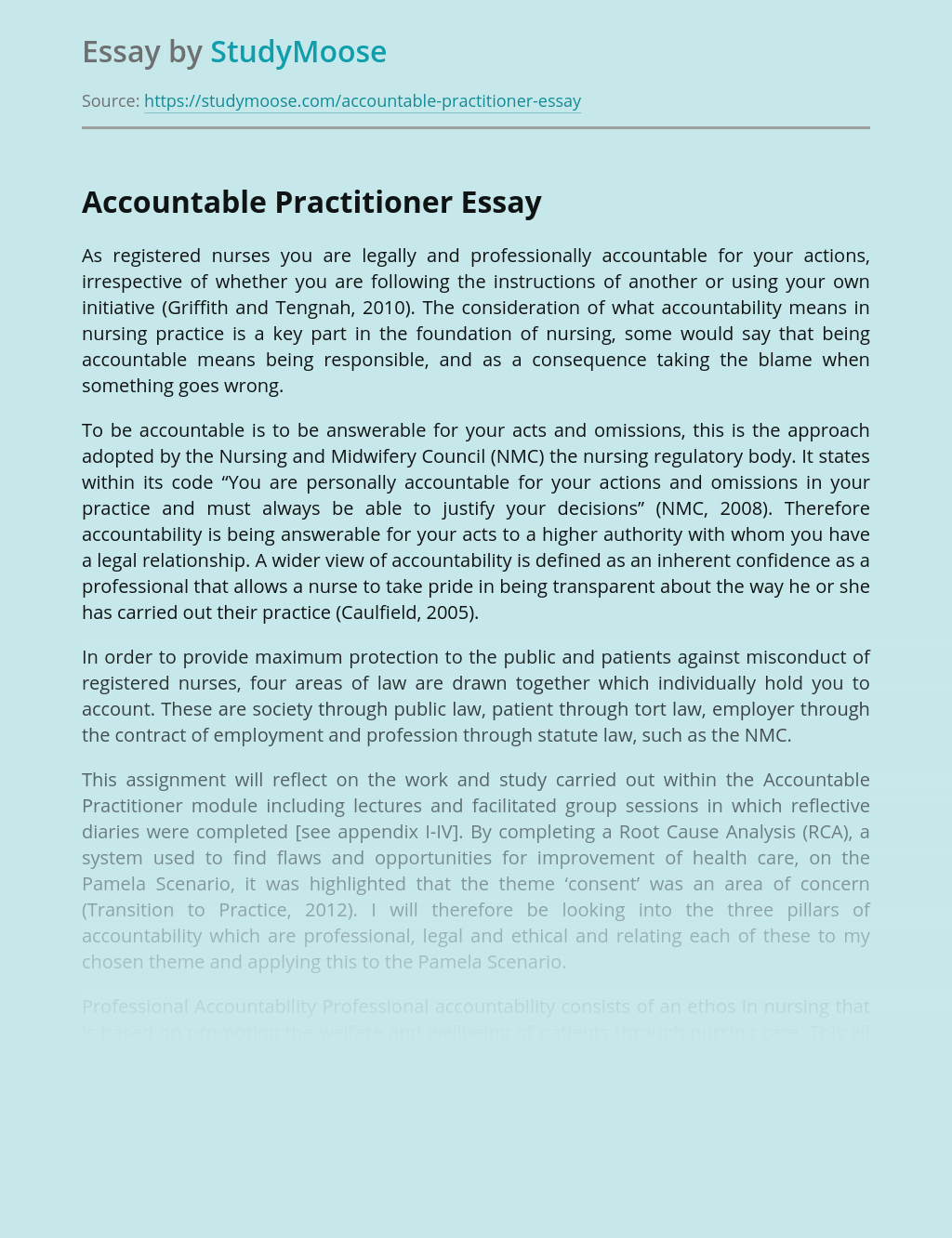 Types of Accountability in Nursing
