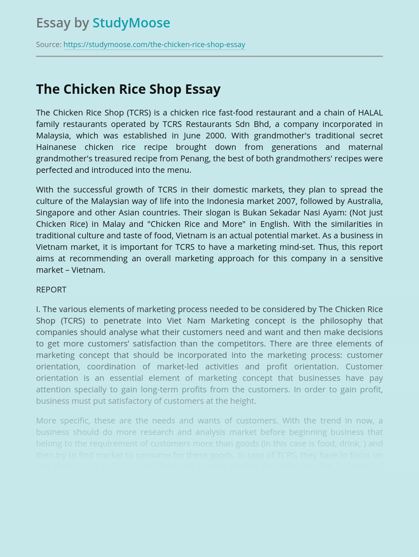 The Chicken Rice Shop Fast Food Restaurants