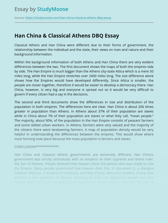 Han China & Classical Athens DBQ