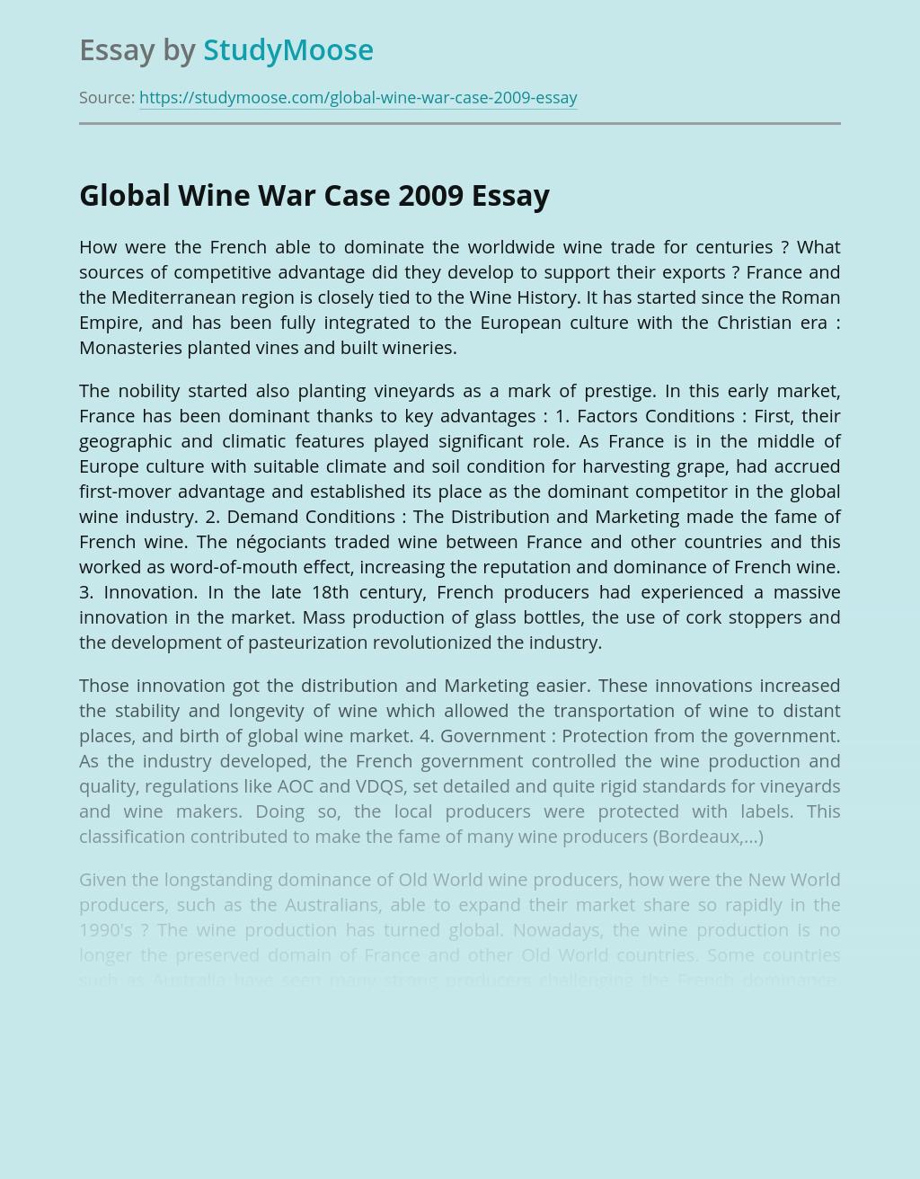 Global Wine War Case 2009