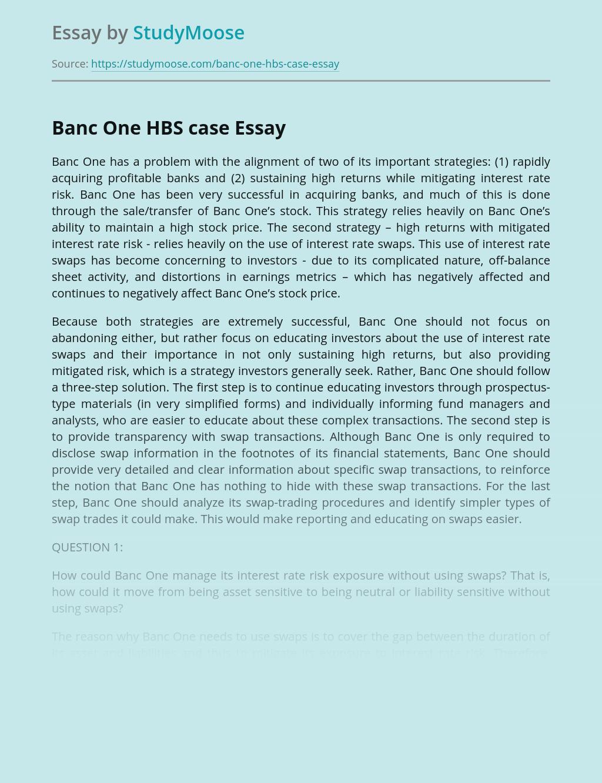 Banc One HBS Case