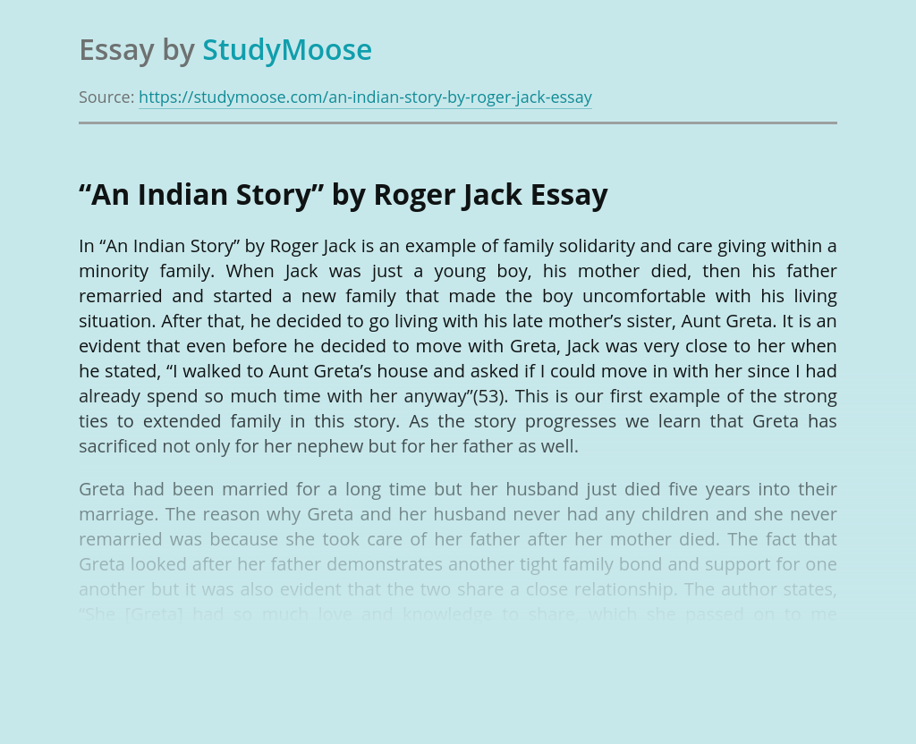 """""""An Indian Story"""" by Roger Jack"""