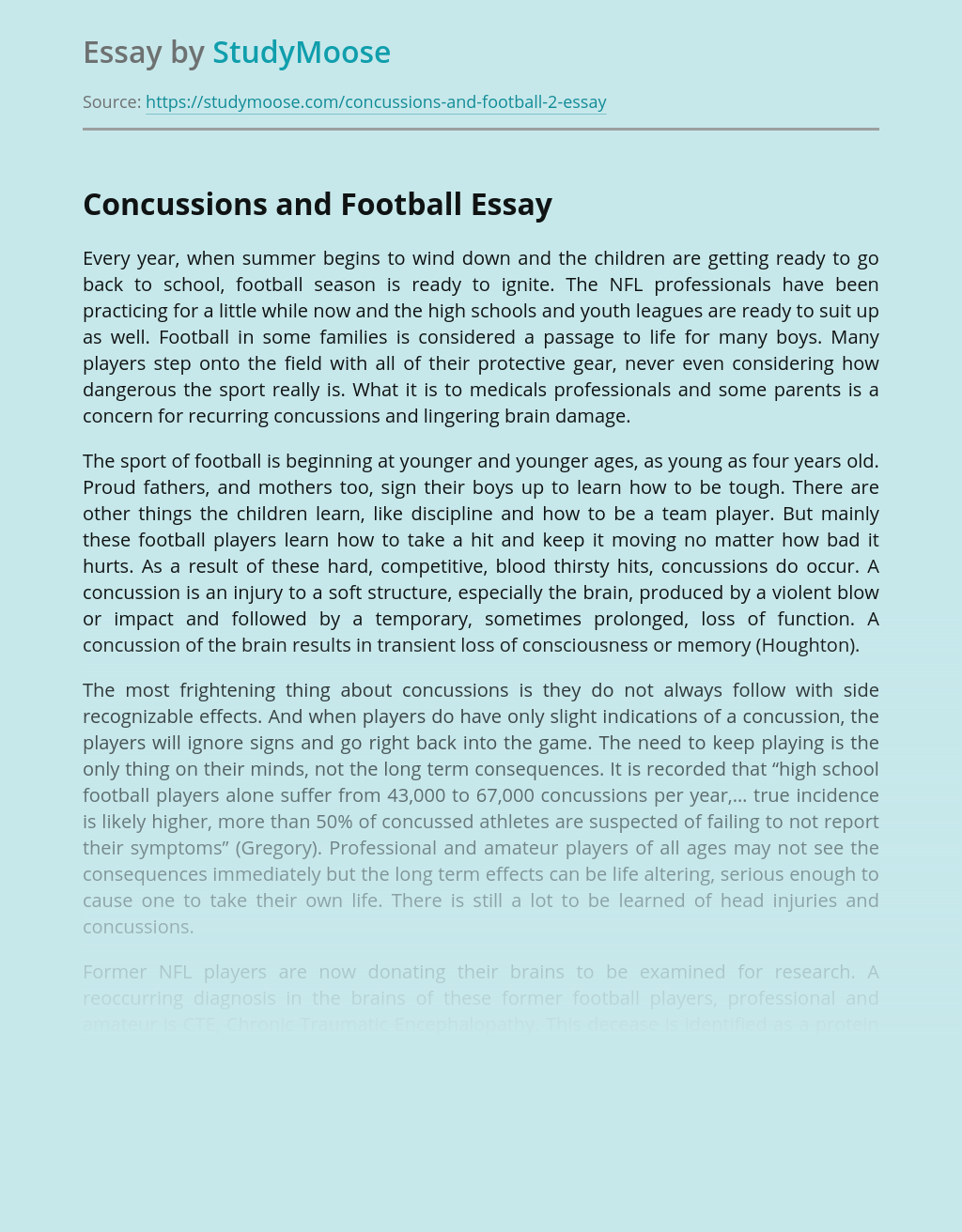 Concussions and Football