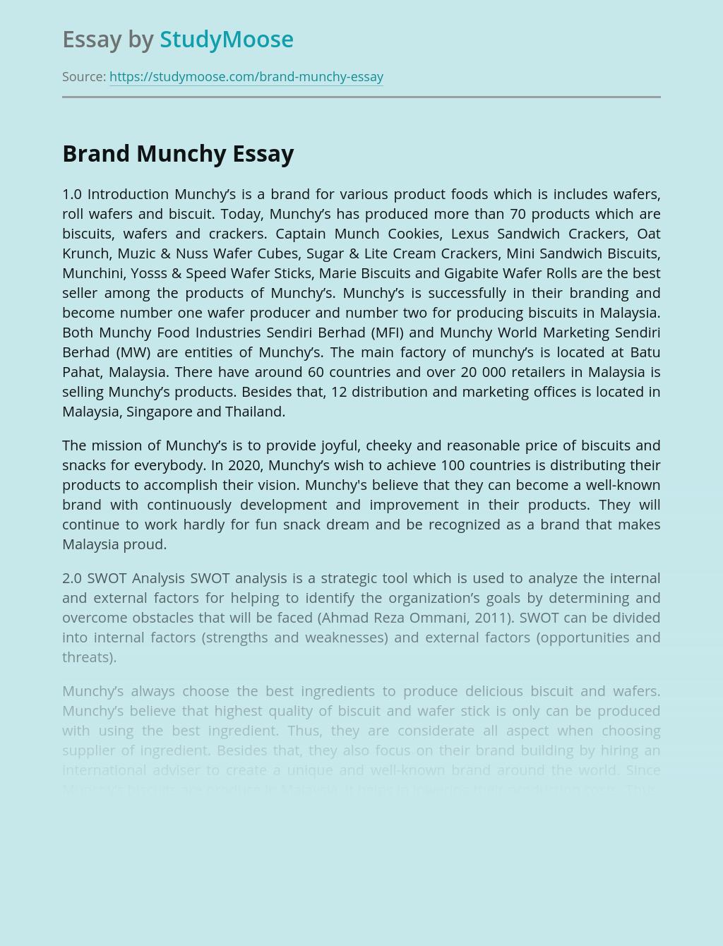 Brand Munchy