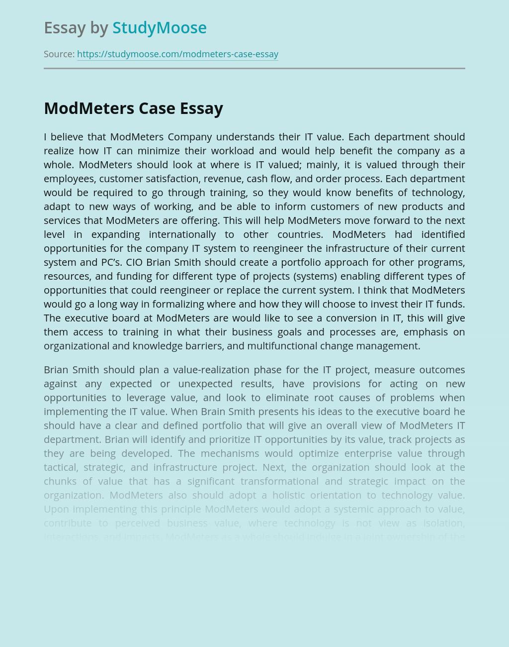 ModMeters Company Case