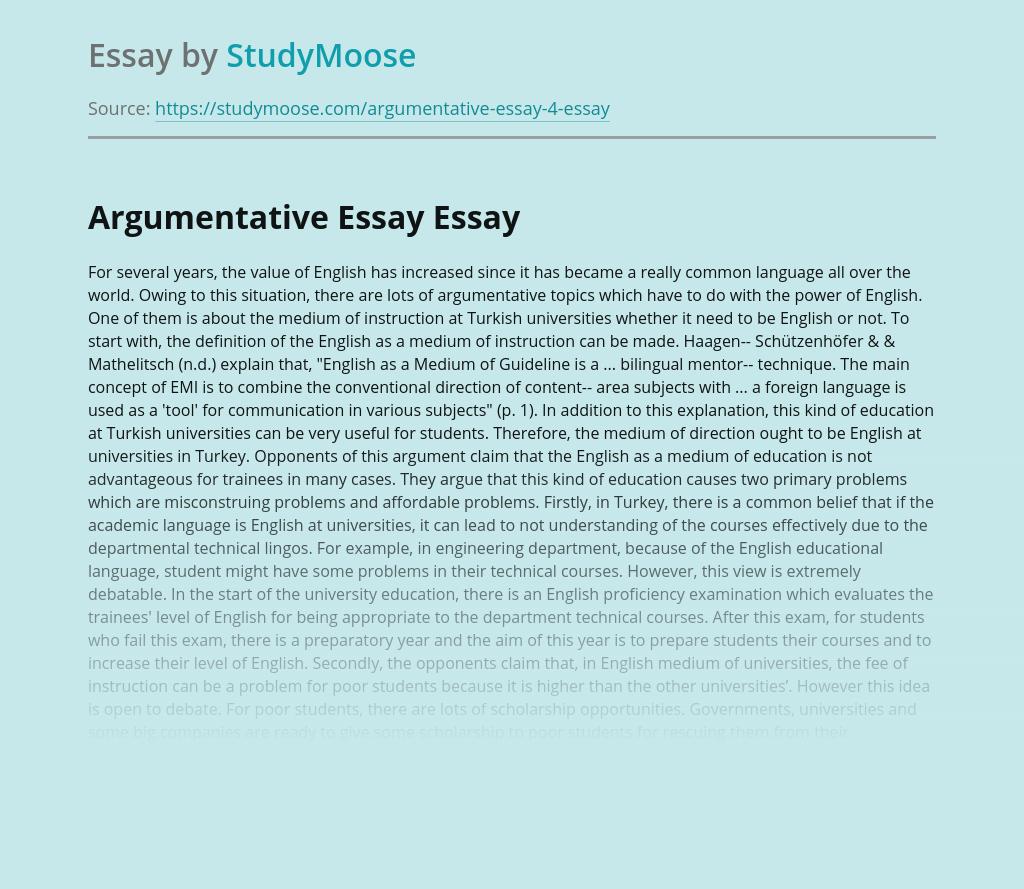 Argumentative Essay on Learning English