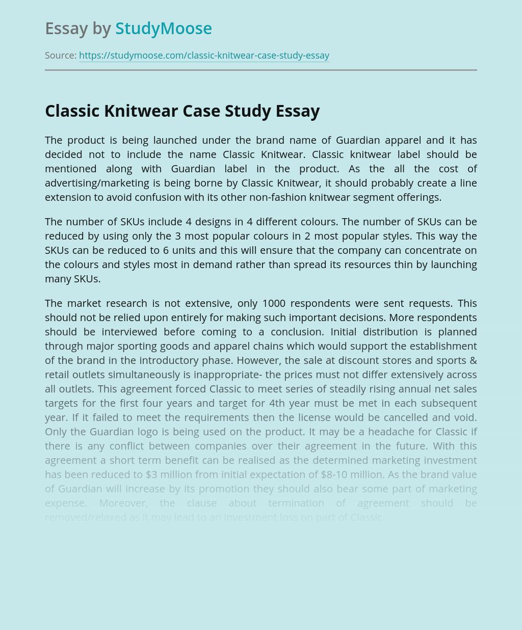 Classic Knitwear Case Study