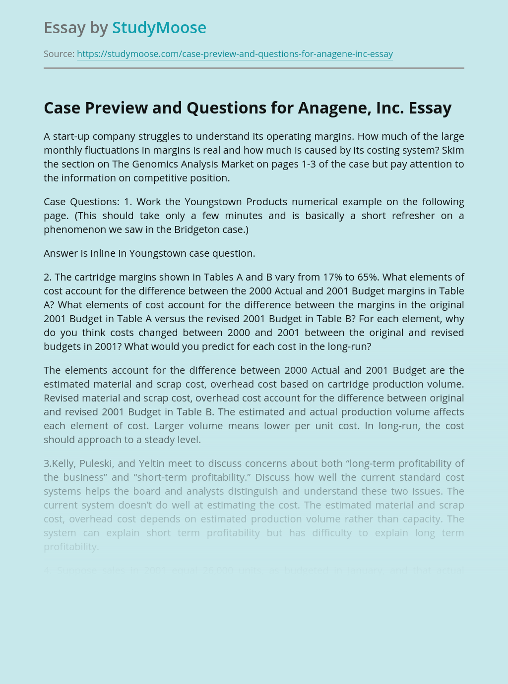 ?Case Preview and Questions for Anagene, Inc.
