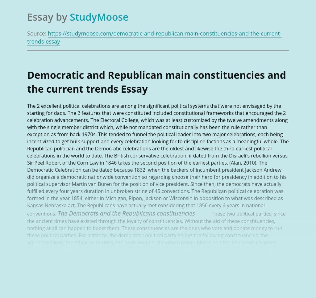 Democratic and Republican main constituencies and the current trends