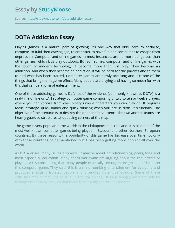 DOTA Addiction