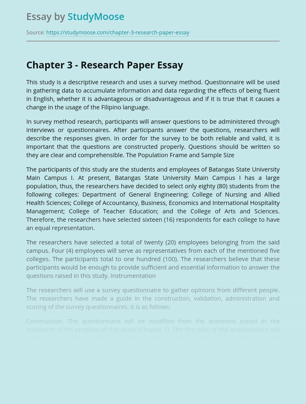 Chapter 3 - Research Paper