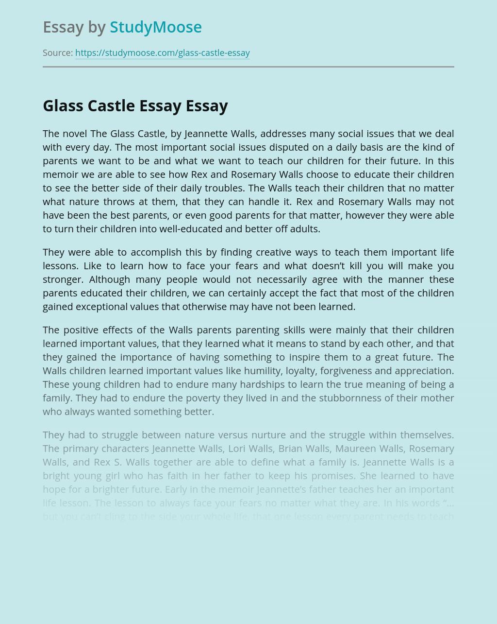 Glass Castle Essay