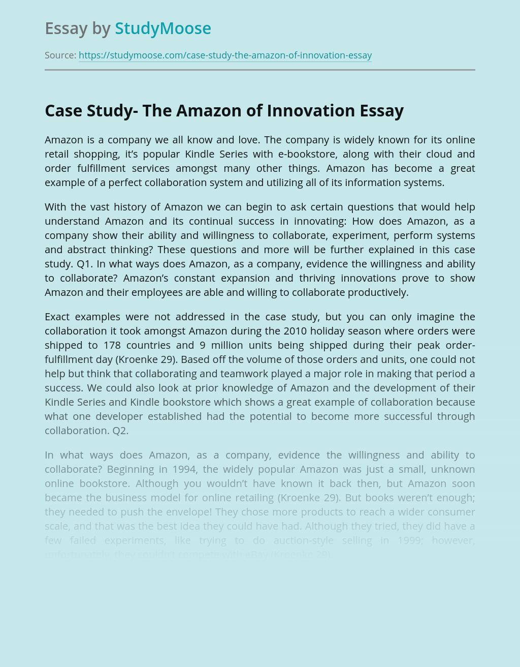 Case Study- The Amazon of Innovation