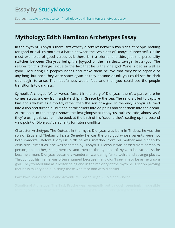 Mythology: Edith Hamilton Archetypes
