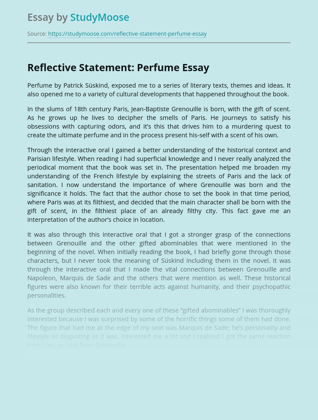 Reflective Statement: Perfume