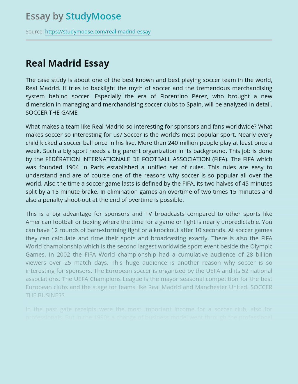 Real Madrid in Football History