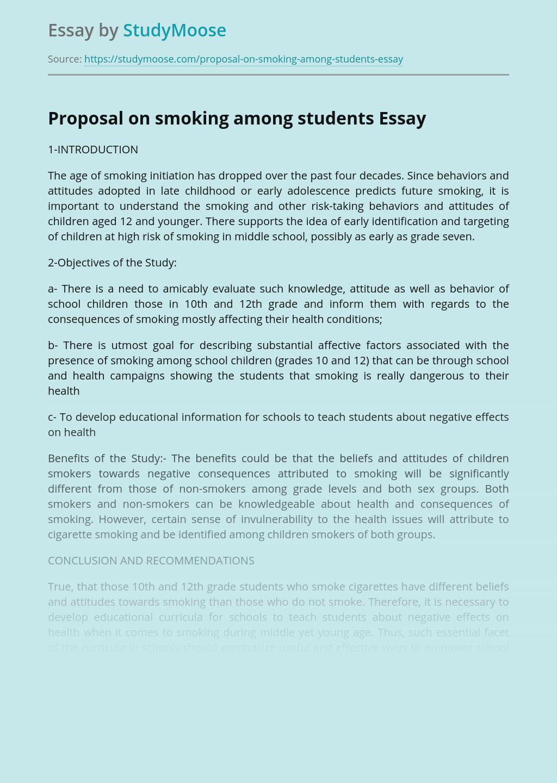 Proposal on smoking among students