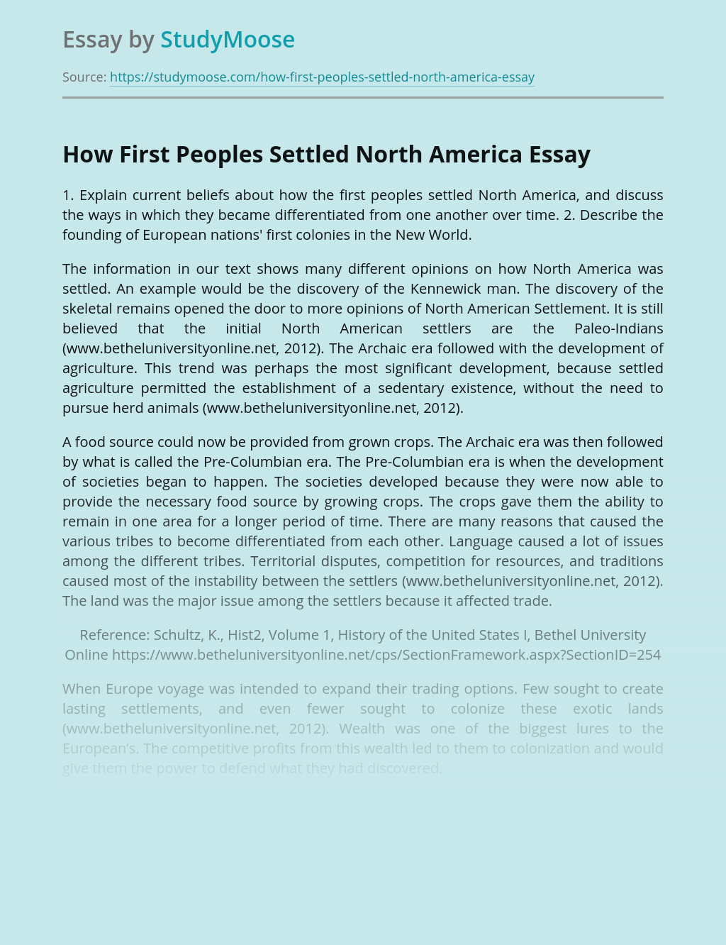 How First Peoples Settled North America