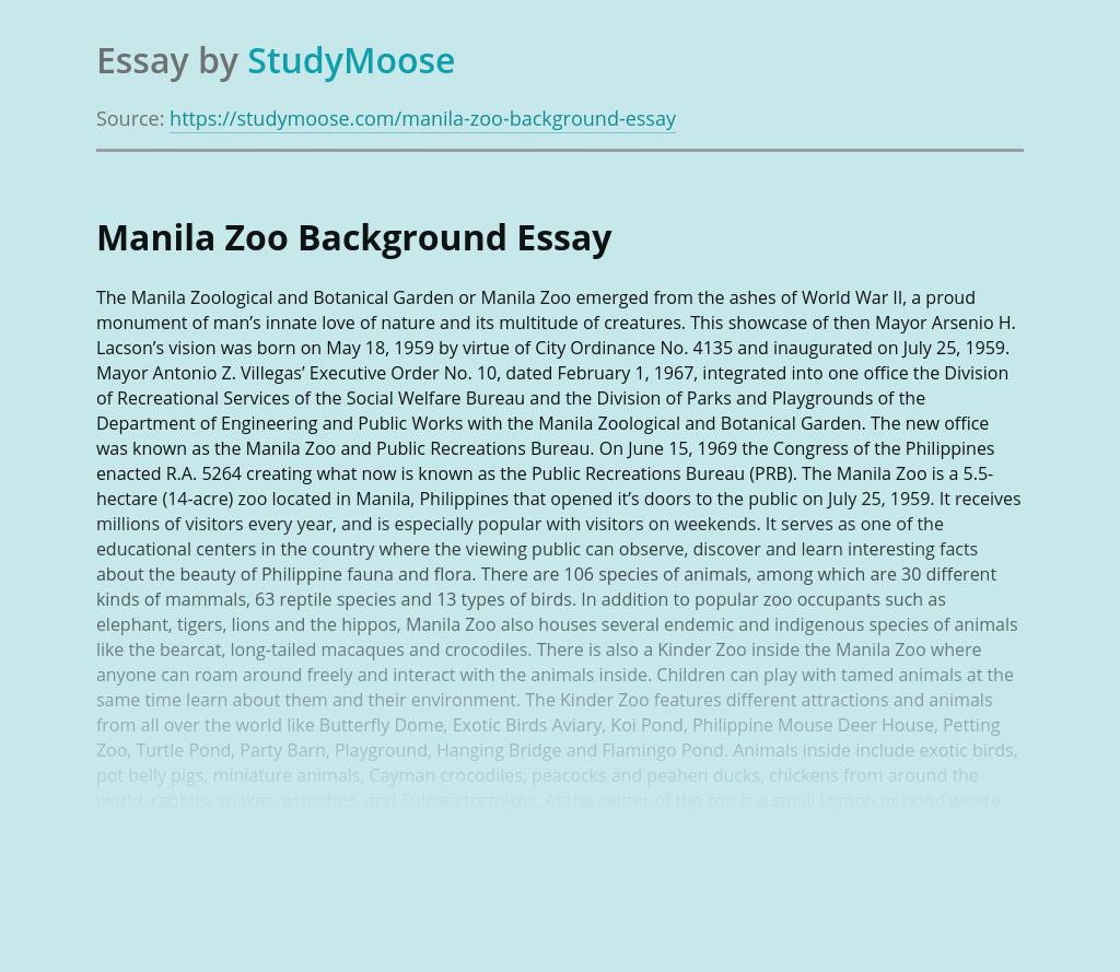 Manila Zoo Background
