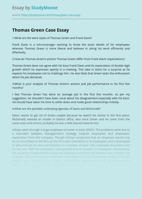 Thomas Green Case