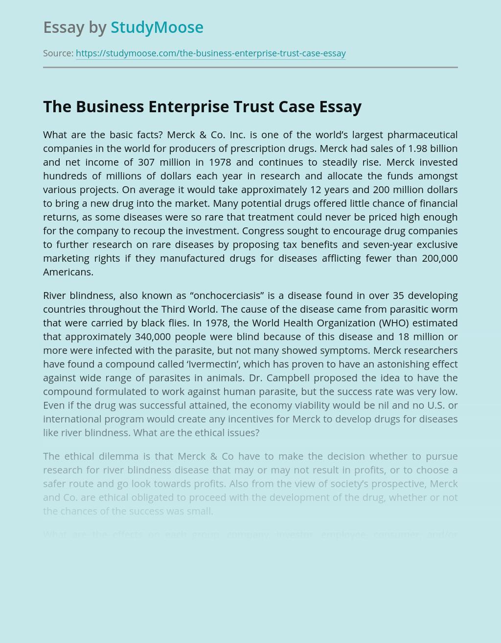 The Business Enterprise Trust Case