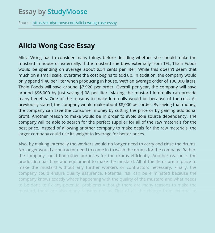 Alicia Wong Case